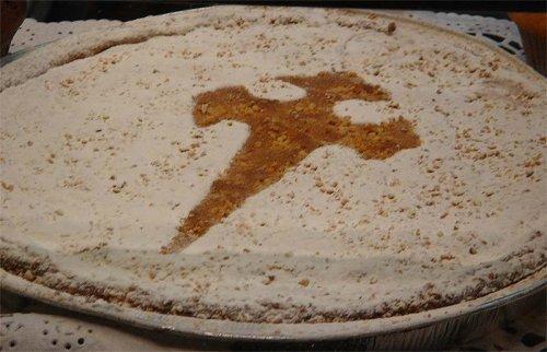 Tarta de Santiago con nata